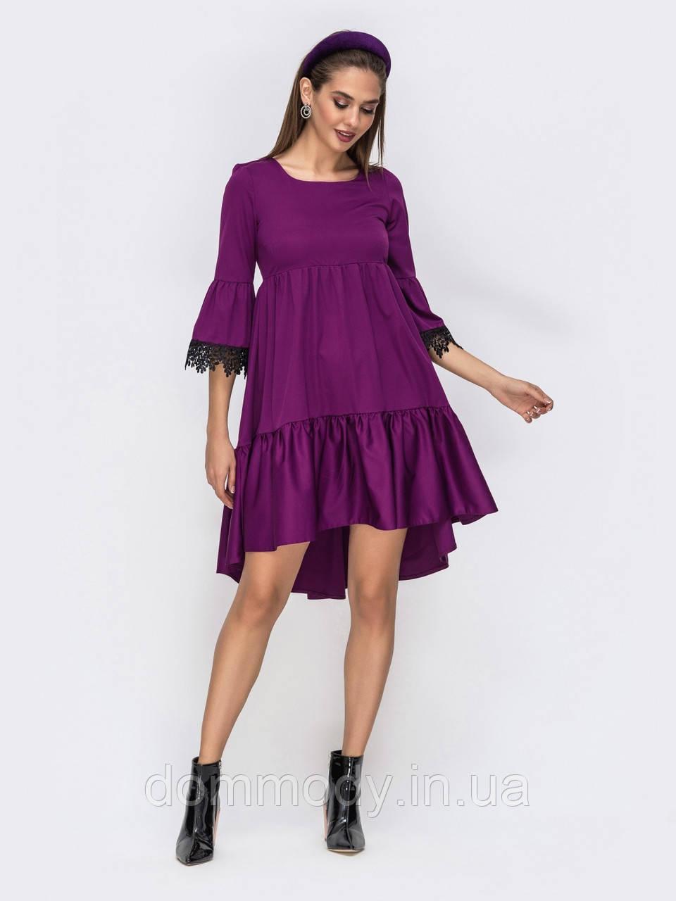 Платье женское с удлинённой спинкой