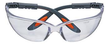Очки Neo защитные противоосколочные из поликарбоната, белые линзы, регулировка длины и угла дужек, стойкие к