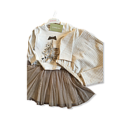 Детский костюм юбка реглан бомбер для девочки