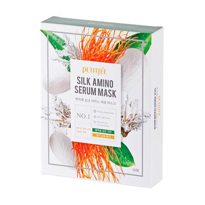 Petitfee Silk Amino Serum Mask Маска для лица с протеинами шелка