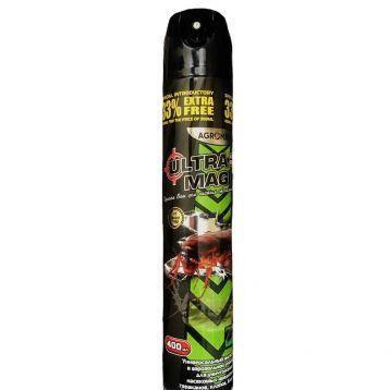 Аэрозоль (Дихлофос) Ультра Магик, 400 мл — без запаха, от тараканов, клопов, мух, фото 2