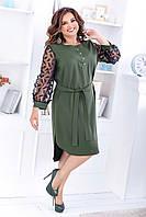 Женское асимметричное платье-рубашка больших размеров, фото 1