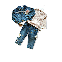 Костюм джинсовый для девочки 3ка