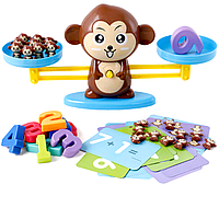 Детская развивающая настольная игра Metr+ сохрани баланс обезьянки коричневые (BS773B)