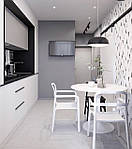 Стол круглый Тюльпан, МДФ, диаметр 80 см, цвет белый, фото 3