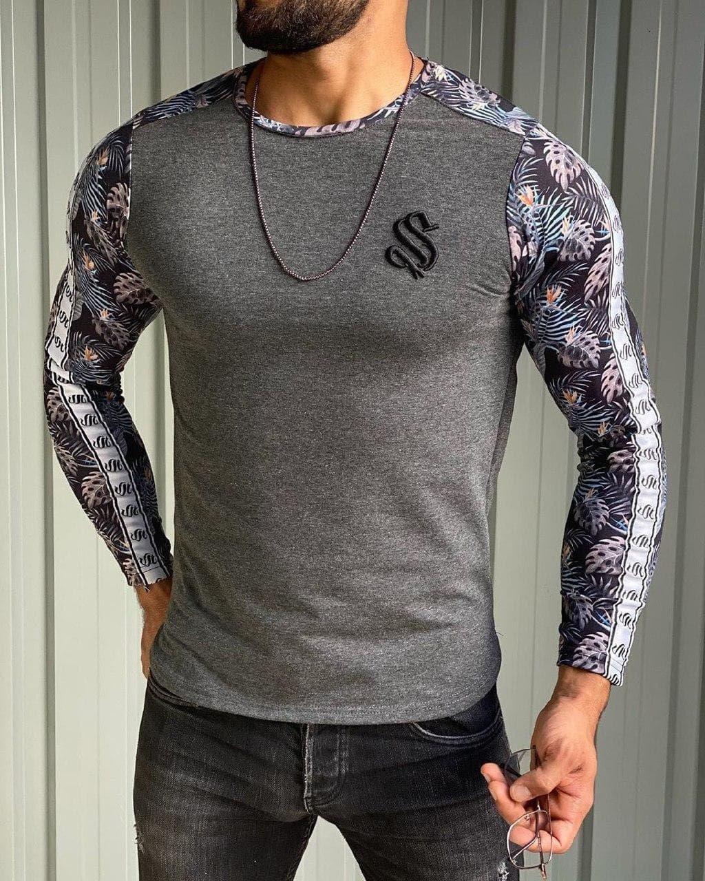 😜 Свитер - Мужской теплый свитер серый
