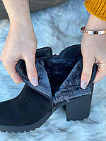 Ботинки женские зимние 6 пар в ящике черного цвета 36-41, фото 4