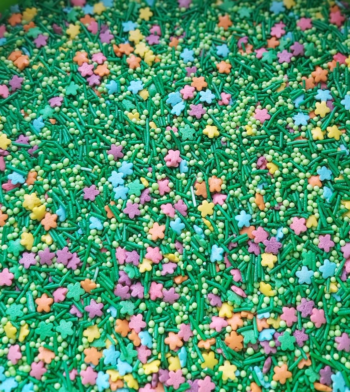Посыпка кондитерская Микс с Цветочками разноцветная