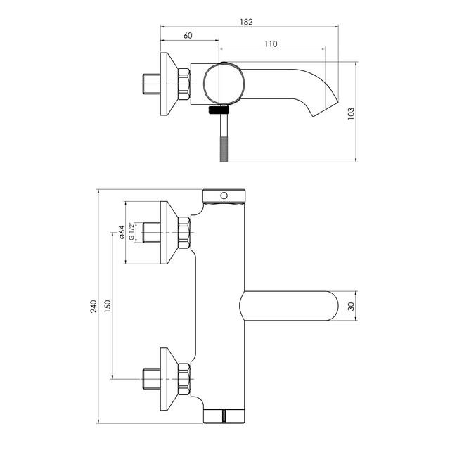 Змішувач для ванни ImpreseBrenta ZMK091908040