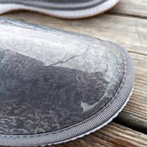 Серые короткие угги низкие дутики женские непромокаемые силиконовые для дождя, фото 2