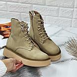 😜 Ботинки - женские бежевые трэндовые ботинки зима на меху, фото 3