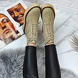 😜 Ботинки - женские бежевые трэндовые ботинки зима на меху, фото 4