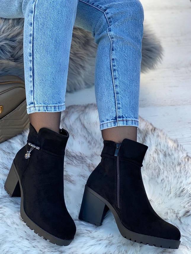 Ботинки женские зимние 6 пар в ящике черного цвета 36-41, фото 2