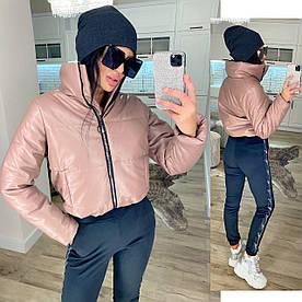Женская стильная куртка. Ткань Эко Кожа , как на фото Размеры: 42-44 46-48.