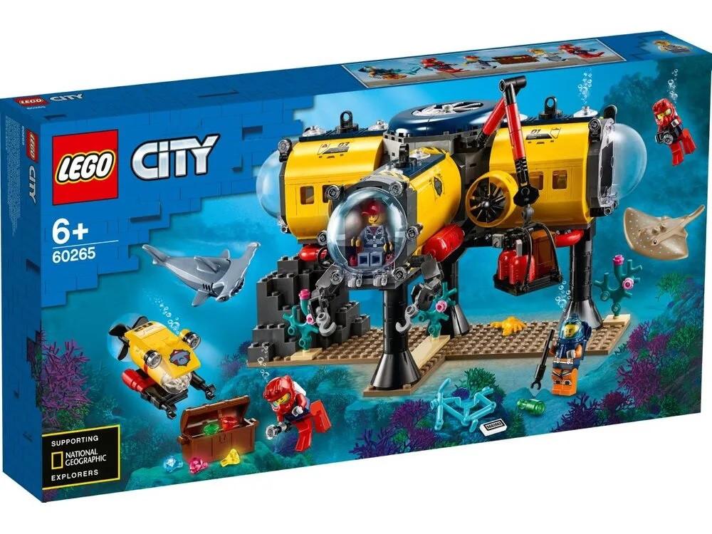 Lego City - Океан: исследовательская база (Ocean Exploration Base, 497 дет), 6+ (60265)