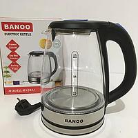 Электрочайник стеклянный Banoo BN2021 Black 2200ВТ