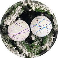 Елочный шар «Звездопад» (100мм), фото 1