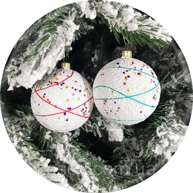 Новогодний елочный шар «Звездопад» (80мм)