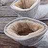 Бежевые белые короткие угги низкие дутики женские непромокаемые силиконовые для дождя, фото 2