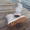Бежевые белые короткие угги низкие дутики женские непромокаемые силиконовые для дождя, фото 3
