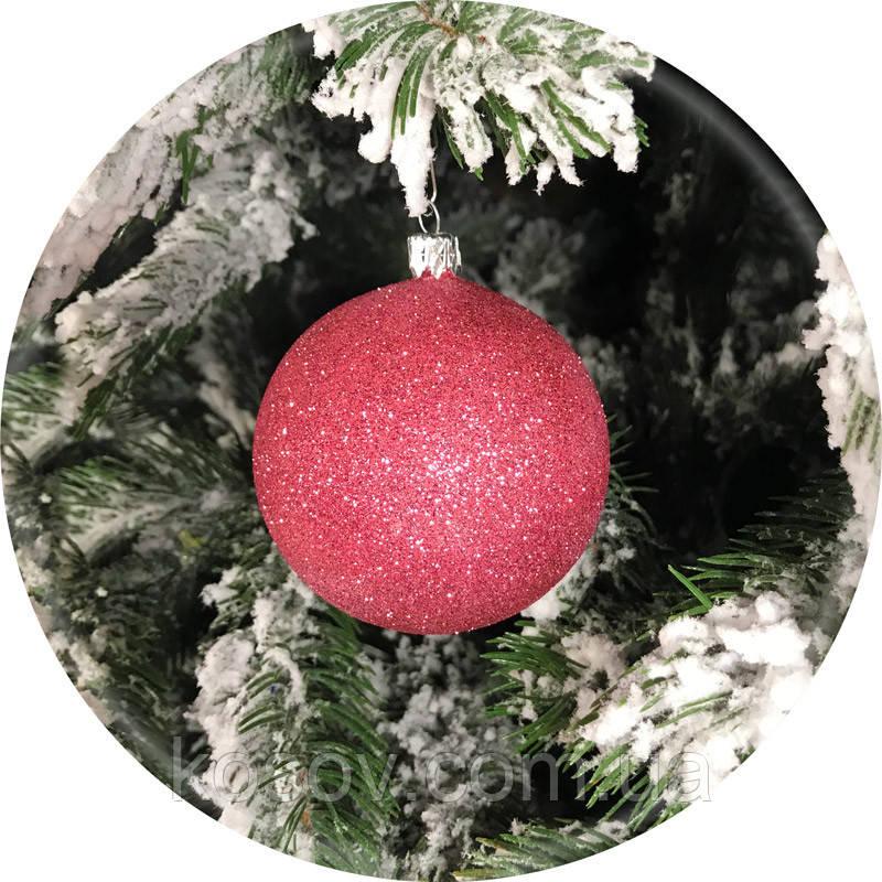 Елочный шар «Блеск» (розовый, 100мм)
