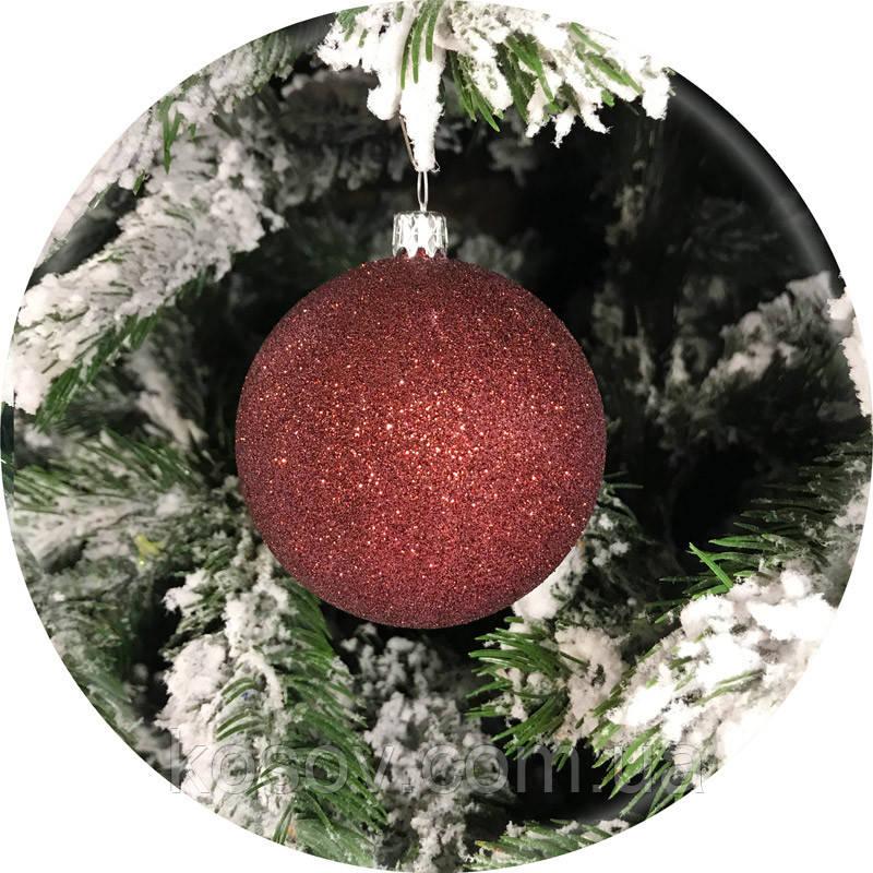 Елочный шар «Блеск» (шоколад, 100мм)