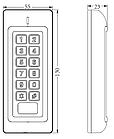 Кодовая панель-считыватель доступа по картам и коду ZKTeco MK-VM, фото 6