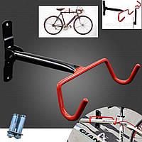 Крепление для велосипеда на стену за раму(складное) для горизонтального хранения ,подвесной кронштейн, крюк, фото 1