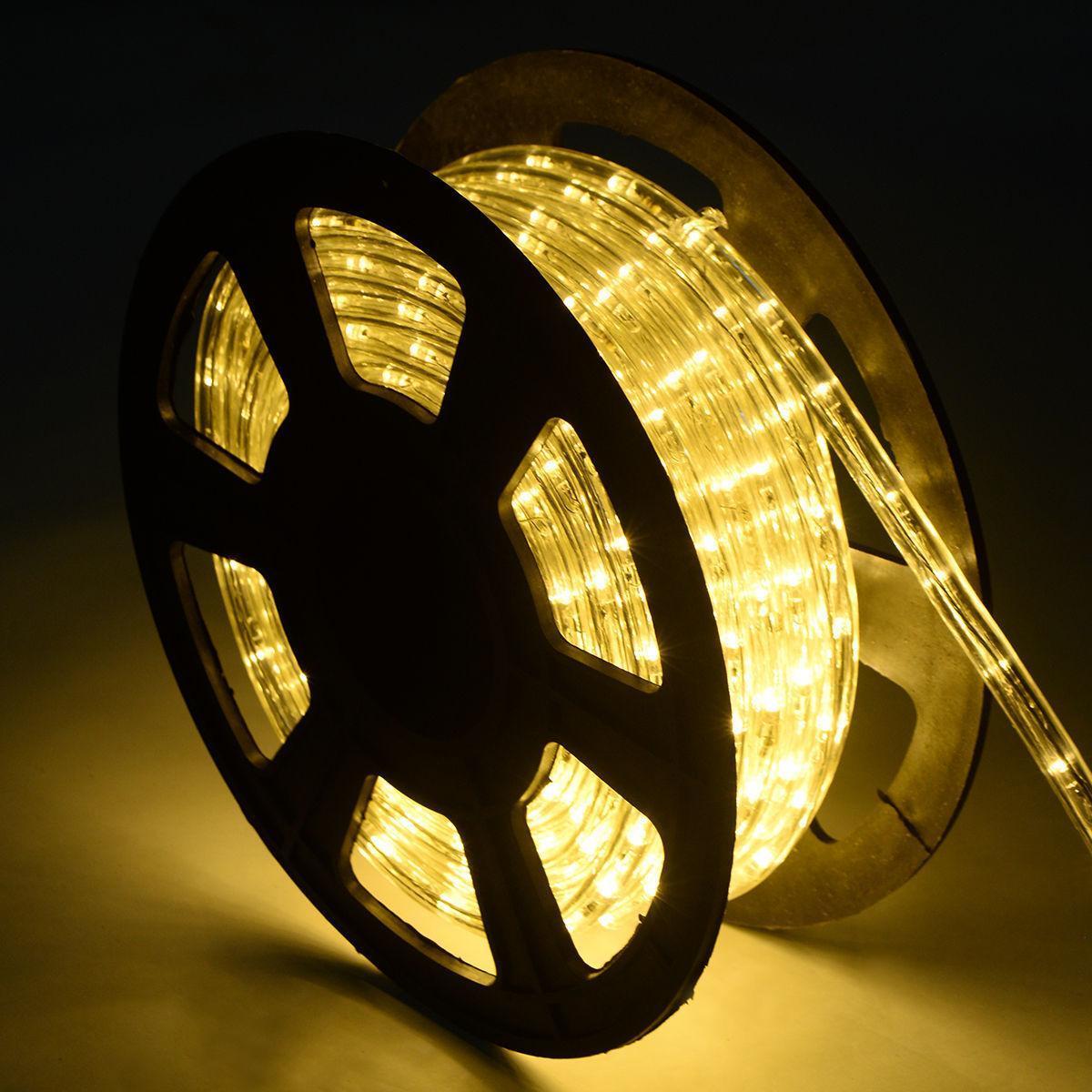 Светодиодный дюралайт 18 led на метр, бухта 100 м цвет тепло-белый
