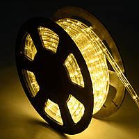 Светодиодный дюралайт 18 led на метр, бухта 100 м цвет тепло-белый, фото 1