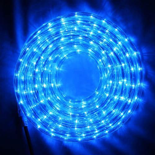 Дюралайт, светодиодный дюралайт, готовый комплект с переходником 20 м, цвет синий