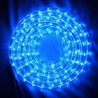 Дюралайт, светодиодный дюралайт, готовый комплект с переходником 20 м, цвет синий, фото 1