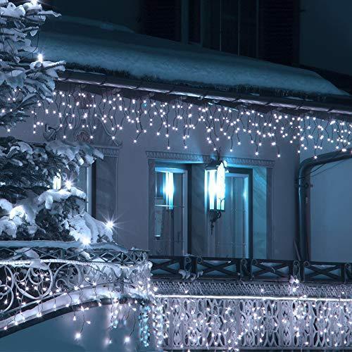 Гирлянда Бахрома 15 м (15х0.65) - цвет свечения белый - светодиодная уличная гирлянда (Айс-Лайт)