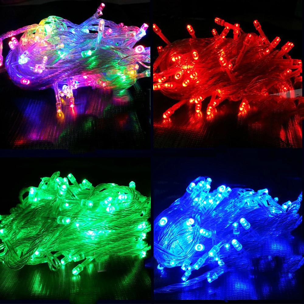 Новогодняя cветодиодная гирлянда LED 500 лампочек: длина 30м, микс цветов Мульти