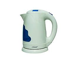 Електричний чайник Maestro на 1.7 л Блакитний 1783, КОД: 308833