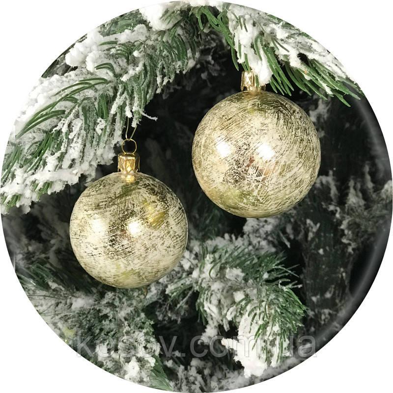 Новогодний елочный шар «Фольга» (бронза, 60мм)