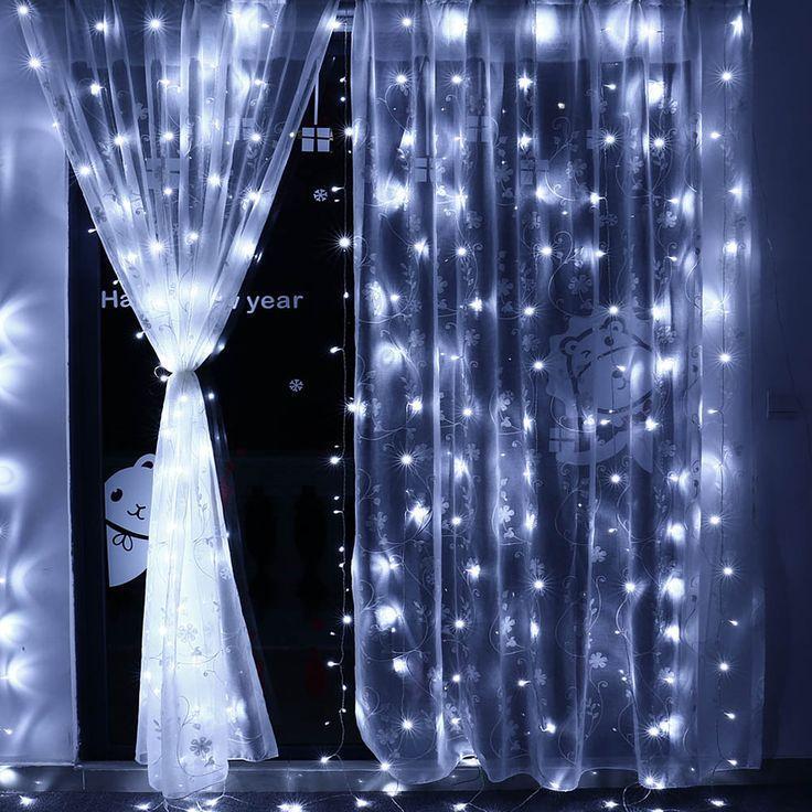 Штора 2х2м 320 led, цвет холодный-белый, статический режим - декоративная гирлянда на Новый год