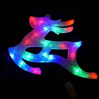 """Новогоднее панно разноцветное """"Бегущий Олень"""" 43х28 см, фигурка разноцветная с led лампочками, фото 1"""