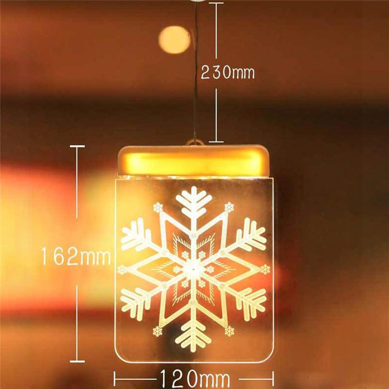 """Новогодняя 3d акриловая фигурка прозрачная доска """"Снежинка"""" тепло белый свет, работает от батареек"""