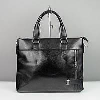 Портфель мужской кожзам черный 2032-2, фото 1