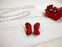 Бантик Бабочка для собаки (ВИДЕО) красный блестящий для выставок и дома Pets Couturier SIMBA