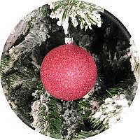 Елочный шар «Блеск» (розовый, 80мм)