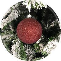 Елочный шар «Блеск» (шоколад, 80мм)