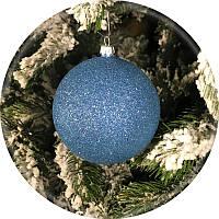Елочный шар «Блеск» (голубой, 80мм)