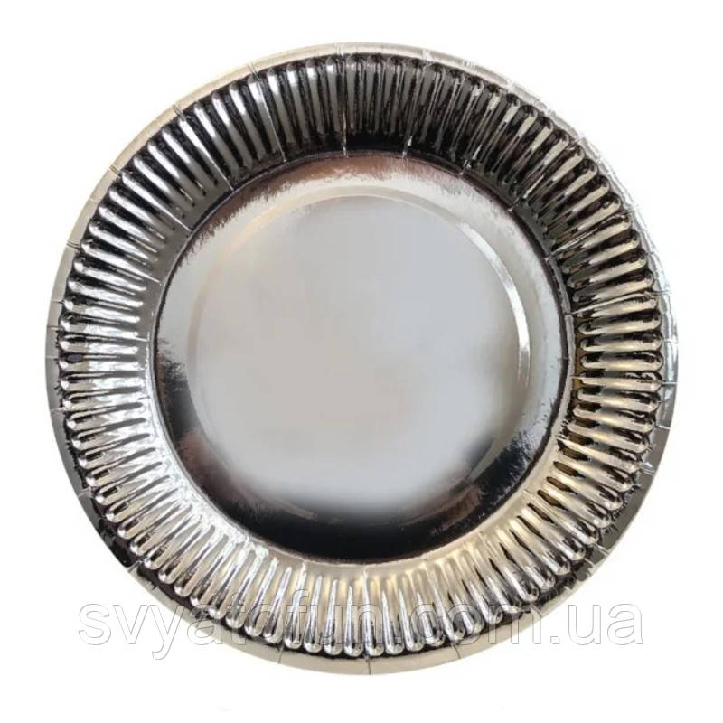 Набор тарелок Серебро 10шт/уп