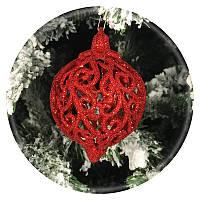 Новогодний елочный шар «Фрукт» (красный, 80мм)