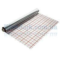 Фольга для теплого пола с разметкой рулон 50 кв/м (100 микрон)
