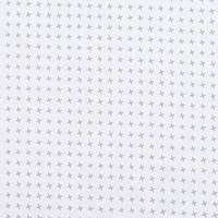 Хлопковая ткань Мелкие ветрячки серые на белом