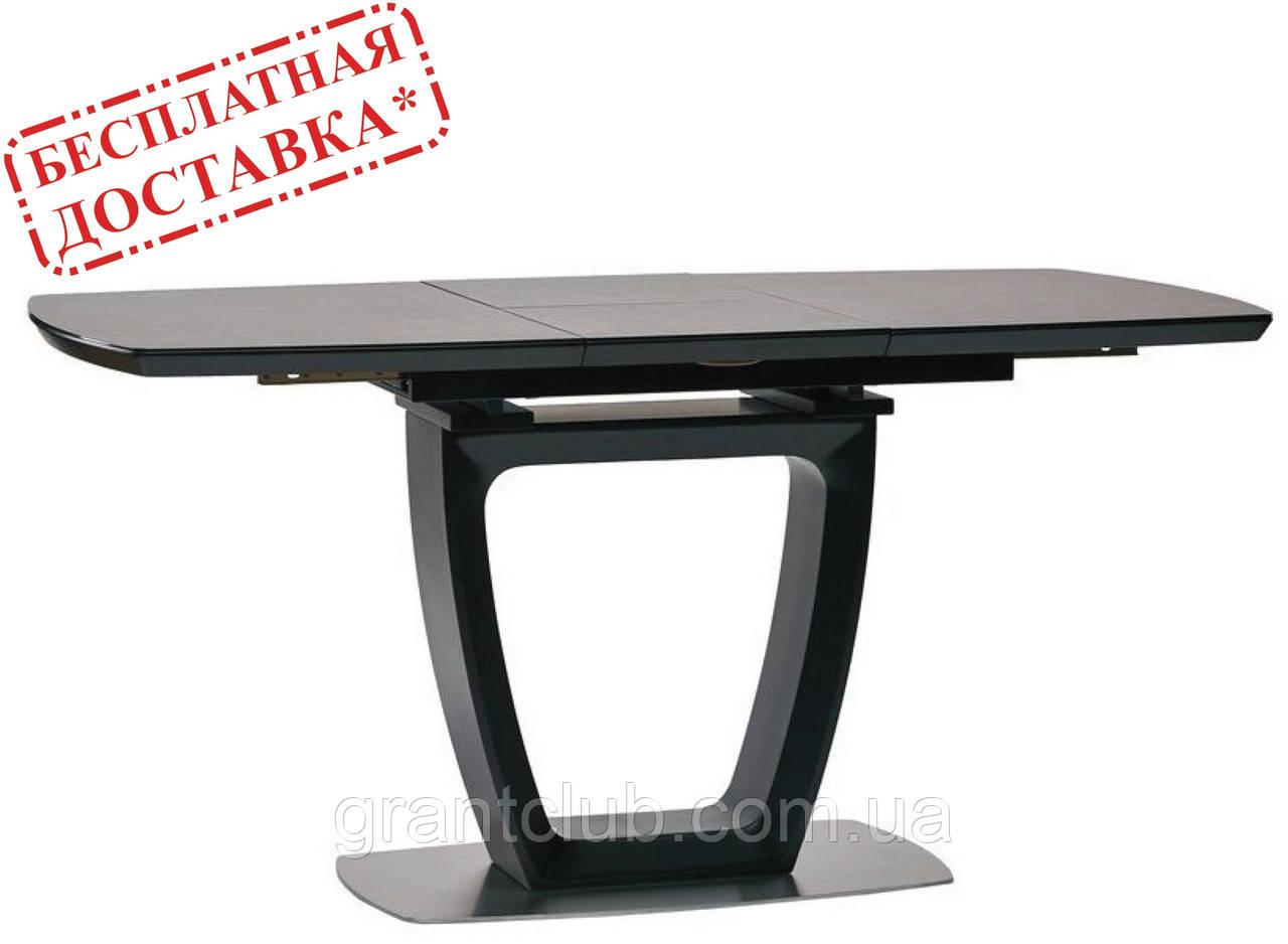 Обеденный раскладной стол RAVENNA DARK GREY 140/180 темно серый  (бесплатная доставка)