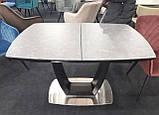 Обеденный раскладной стол RAVENNA DARK GREY 140/180 темно серый  (бесплатная доставка), фото 3